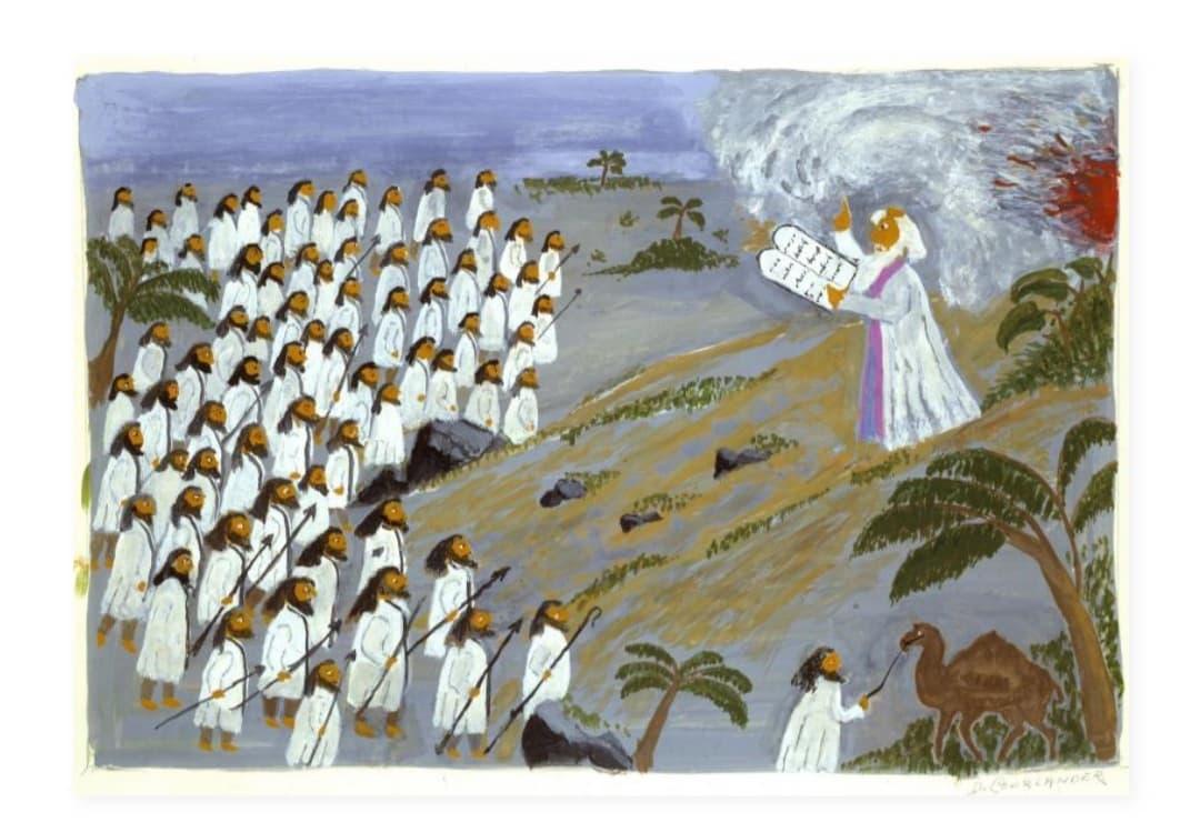 Moses Delivering His Ten Commandments